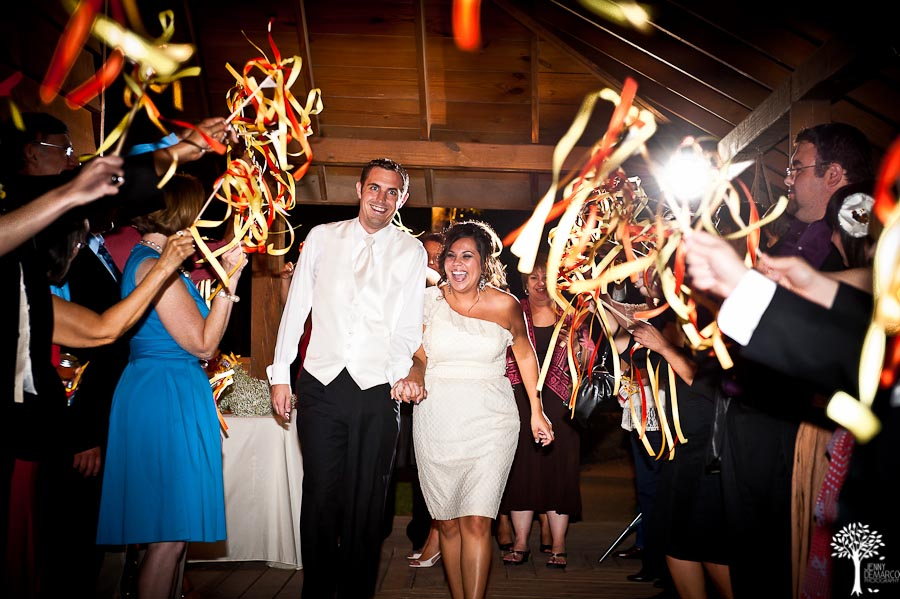 Pyrotex Wedding Fireworks Sendoff Ideas Streamers, thanks to Jenny DeMarco Photography