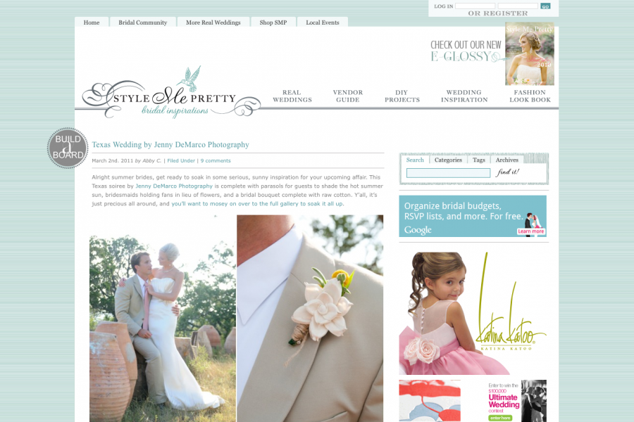 Featured on Style Me Pretty :: Robin + Andrew Texas Hill Country Wedding at Camp Lucy