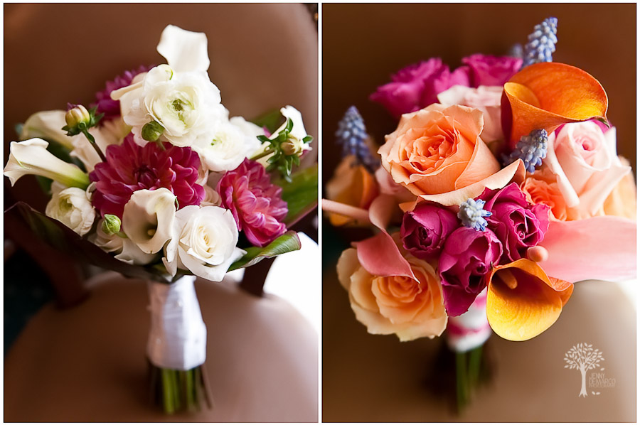 Austin Wedding Photographer, bridal bouquet, bridesmaids bouquet, white, tropical, fuschia, salmon, Four Seasons Hotel, Four Seasons, Dripping Springs Wedding Photographer, San Antonio wedding photographer,