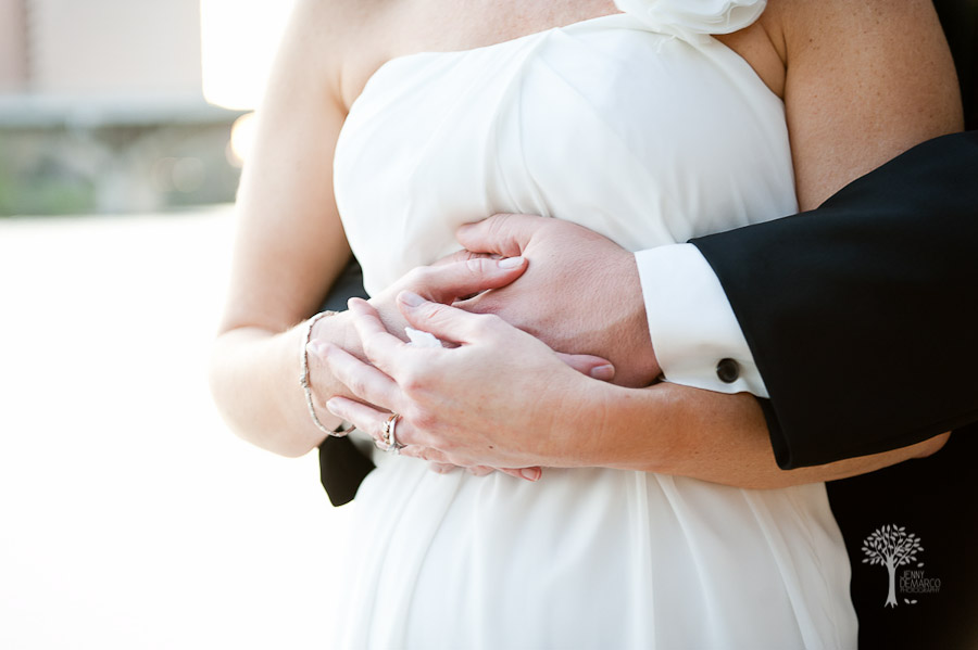 Holding hands, bride and groom, austin wedding photographer, four seasons hotel, town lake, dripping springs, congress bridge, embassy suites, downtown, cesar chavez, hold you, in my arms, san antonio wedding photographer