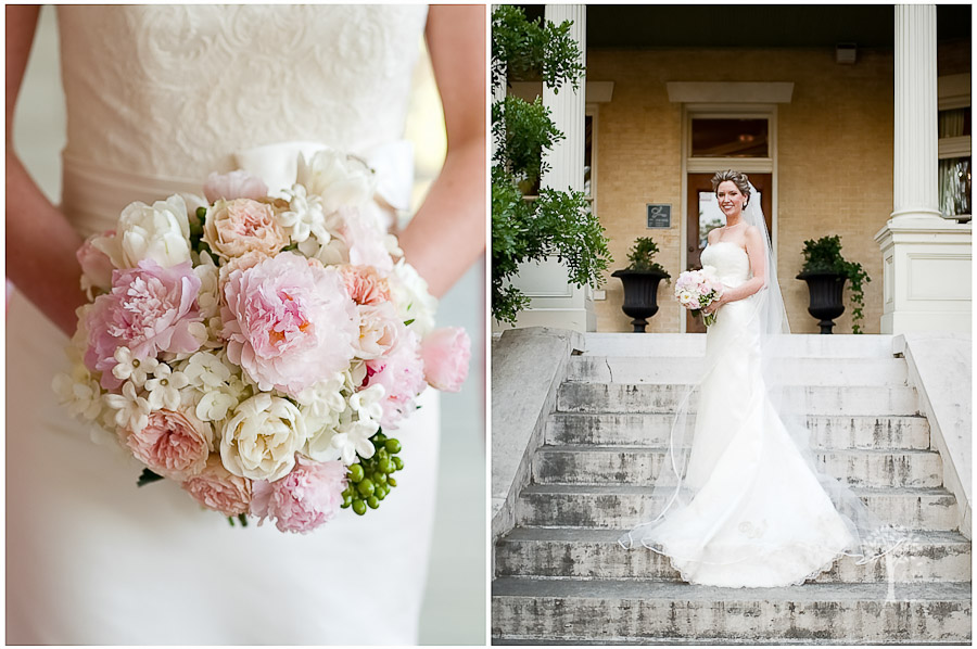 Mansion at Judge's Hill, Ausitn Wedding Photographer, pink and white bouqet,