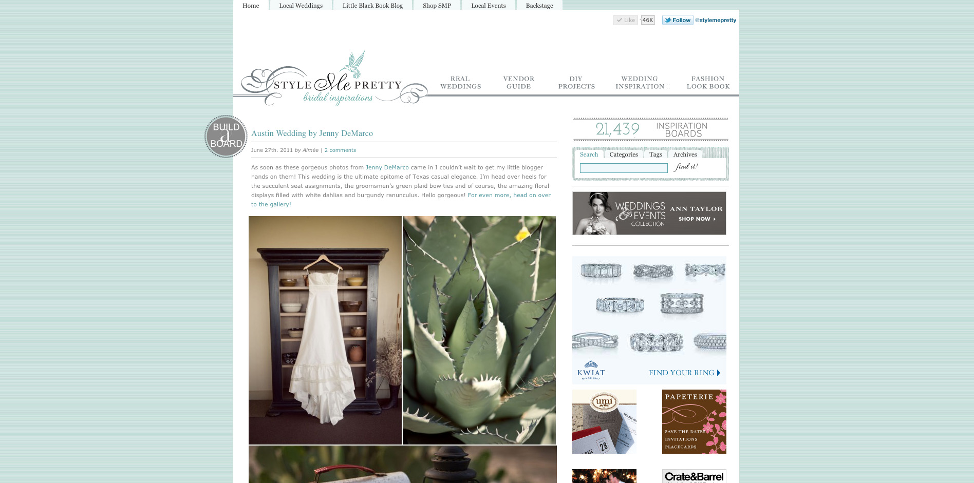Style Me Pretty, Austin Wedding Photographer, Succulents, Wildflower Center,
