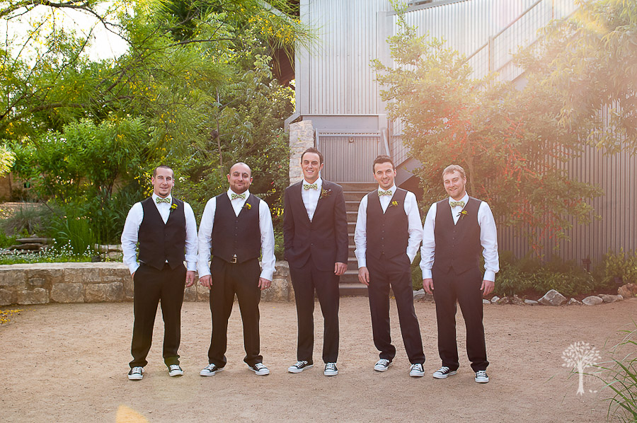 Wildflower Center, Austin Wedding Photographer, green bowtie, groom, groomsmen, bowtie, green socks,