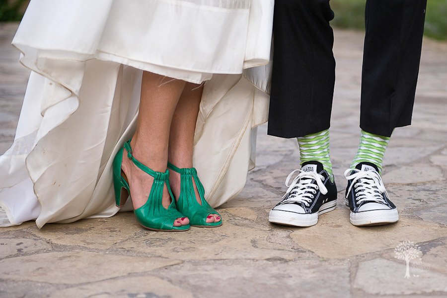 Wildflower Center, Austin Wedding Photographer, bride and groom, shoes, footware, casual, stylish, green, converse