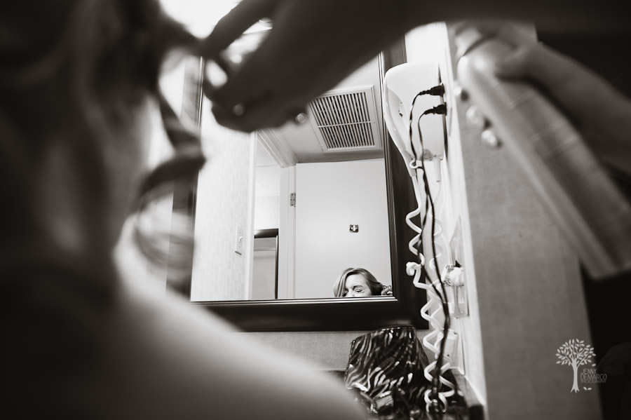 Hairspray, photojournalism, documentary, wedding photography, Austin, photojournalist wedding photography