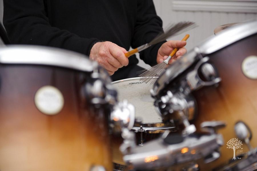 jazz, wedding, mercury hall, saxophone, shabby chic, drums