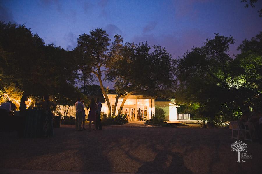 Mercury Hall wedding, night shot,