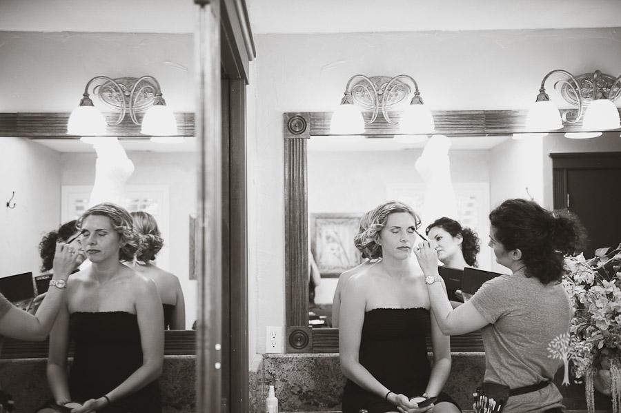 amanda pye, makeup, reflections, Austin wedding photographer