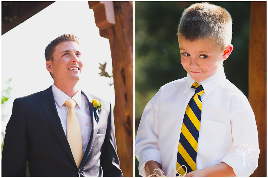 groom, blue, yellow, ties, ring bearer, nature's point
