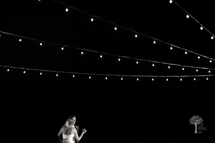 First dance, nature's point, deck, stringed lights, fairy lights