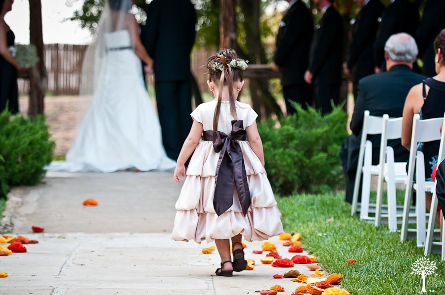 Mia Garza, John McCord, Texas Old Town, Wedding, Wedding Photography, flower petals, flower grils, flower girl dress, fall wedding