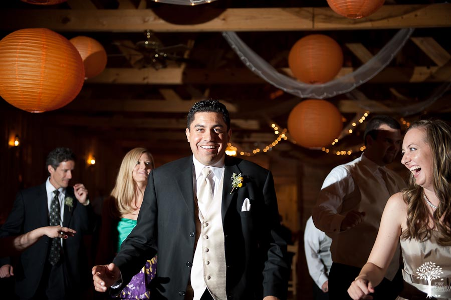 Mia Garza, John McCord, Texas Old Town, Wedding, Wedding tuxedo, Wedding Reception, Dancing, paper lanterns, reception decorations