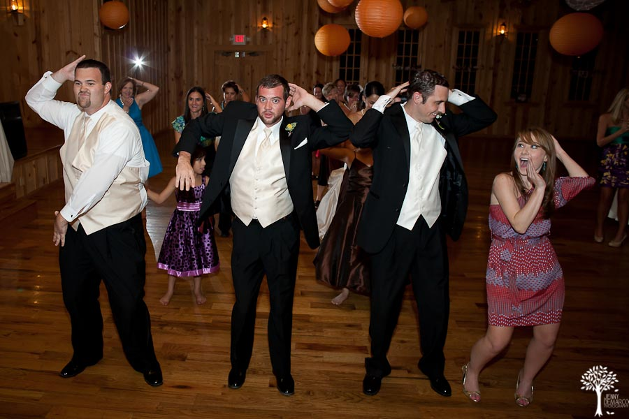 Mia Garza, John McCord, Texas Old Town, Wedding, Jenny DeMarco Photography, groomsmen, Wedding dance, fun wedding, men's tuxedo, silly wedding