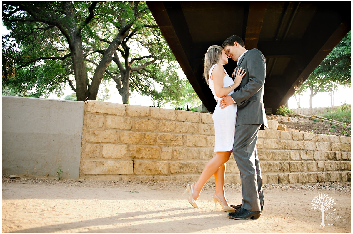 town lake engagement shoot by Austin wedding photographer