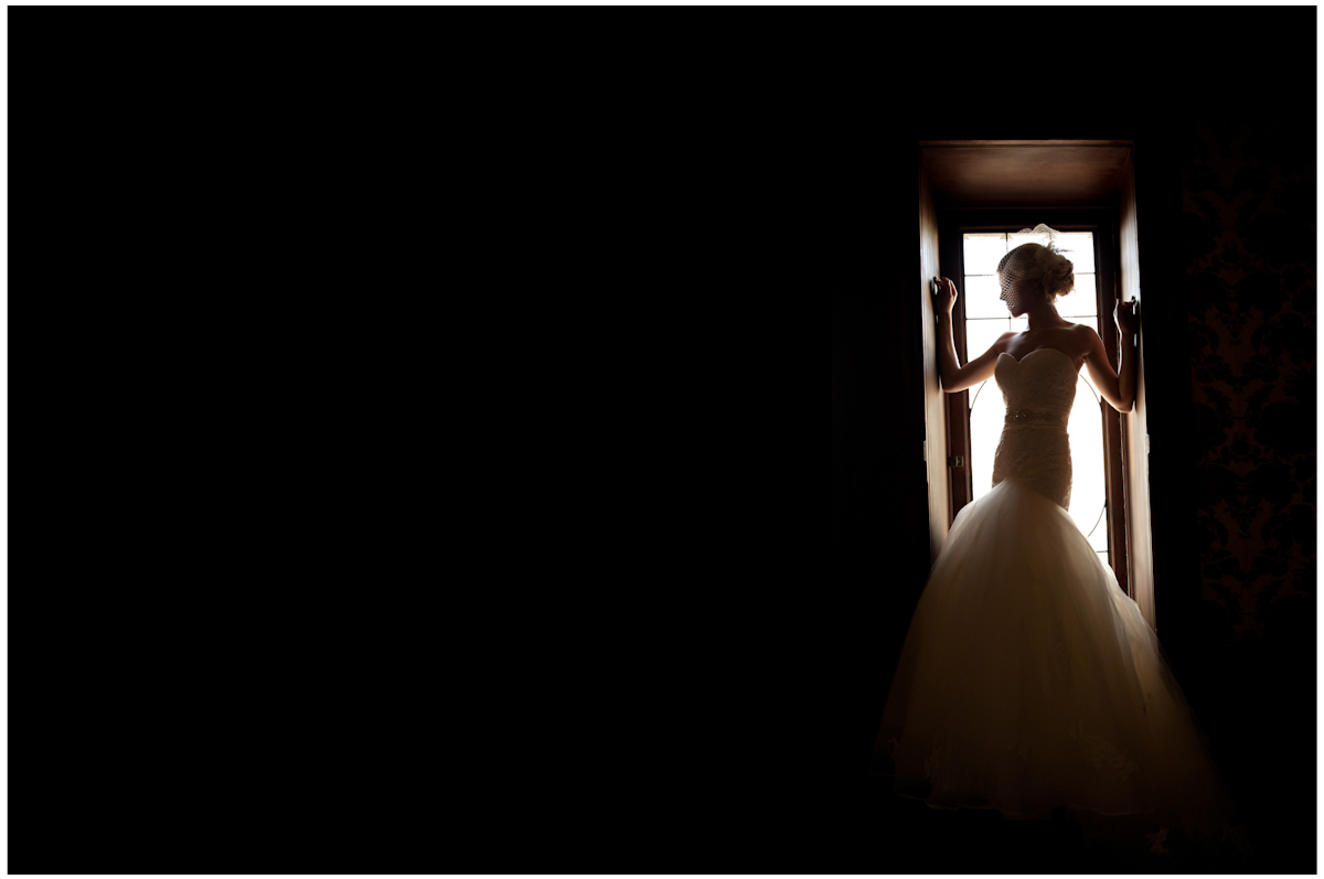 dramatic artistic silloutte at a high fashion couture bridal shoot