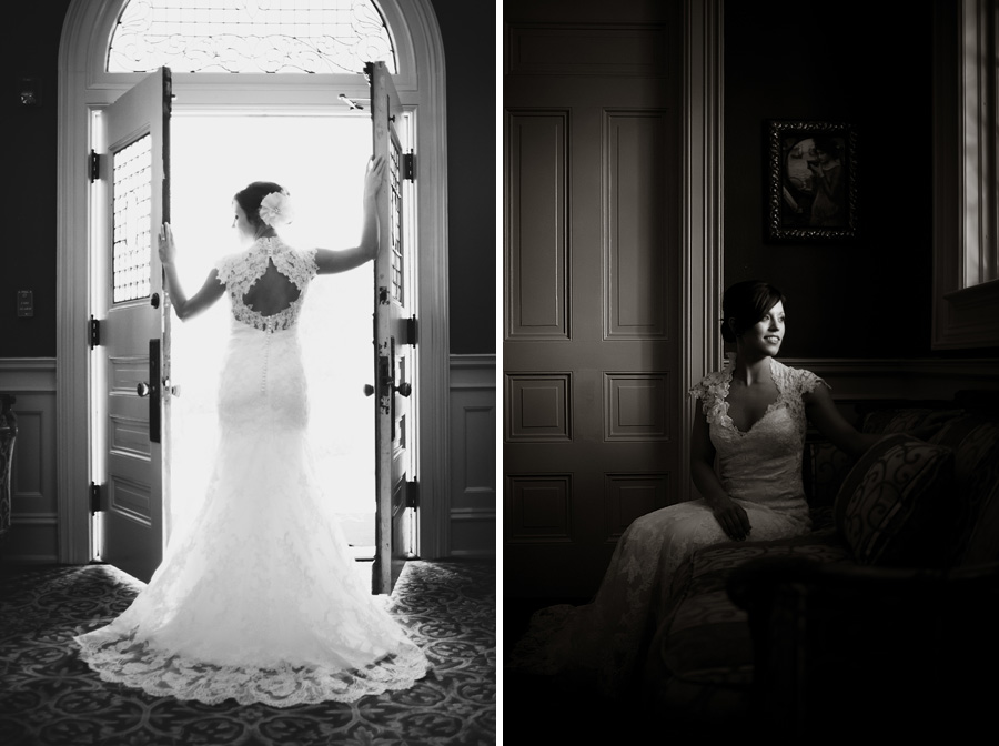 classic artistic bridal portrait taken at the Mansion at Judge's Hill