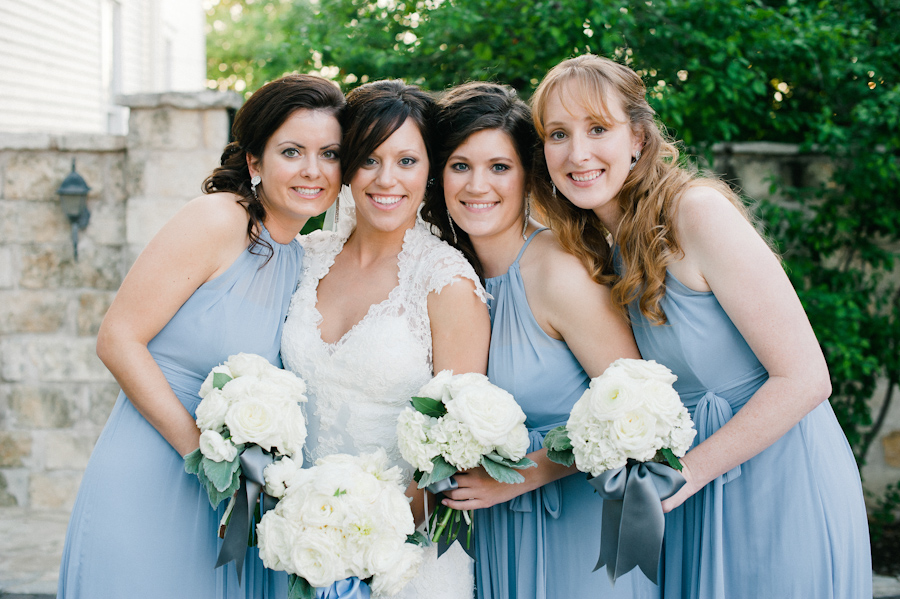 periwinke light blue bridesmaids dresses