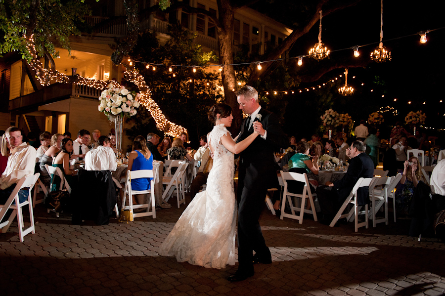 First dance on the patio at the Allan House