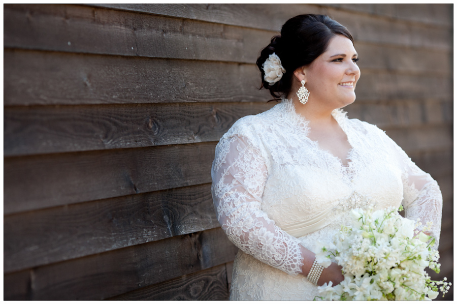 bride in Allure Couture lace gown