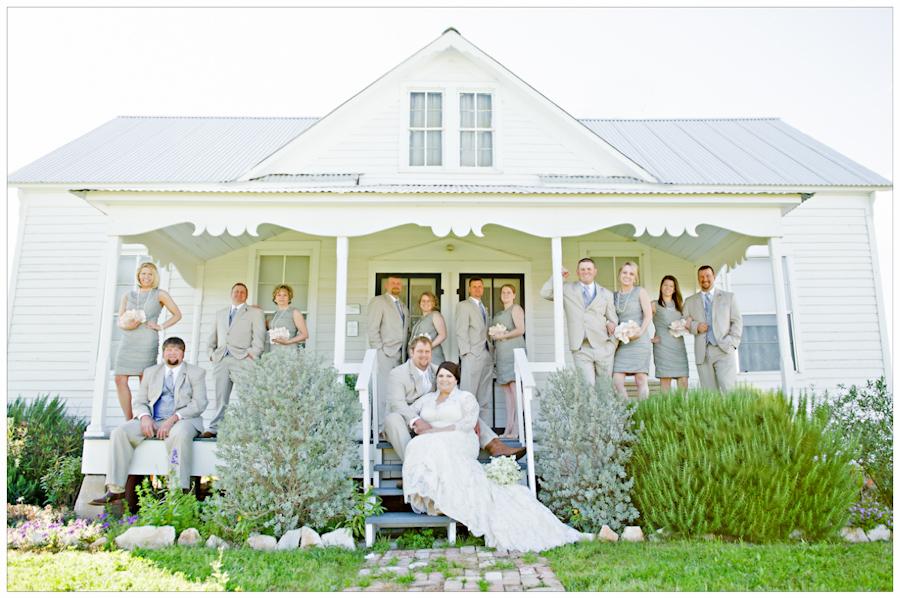 HLUCHANEK HOUSE bridal party portrait
