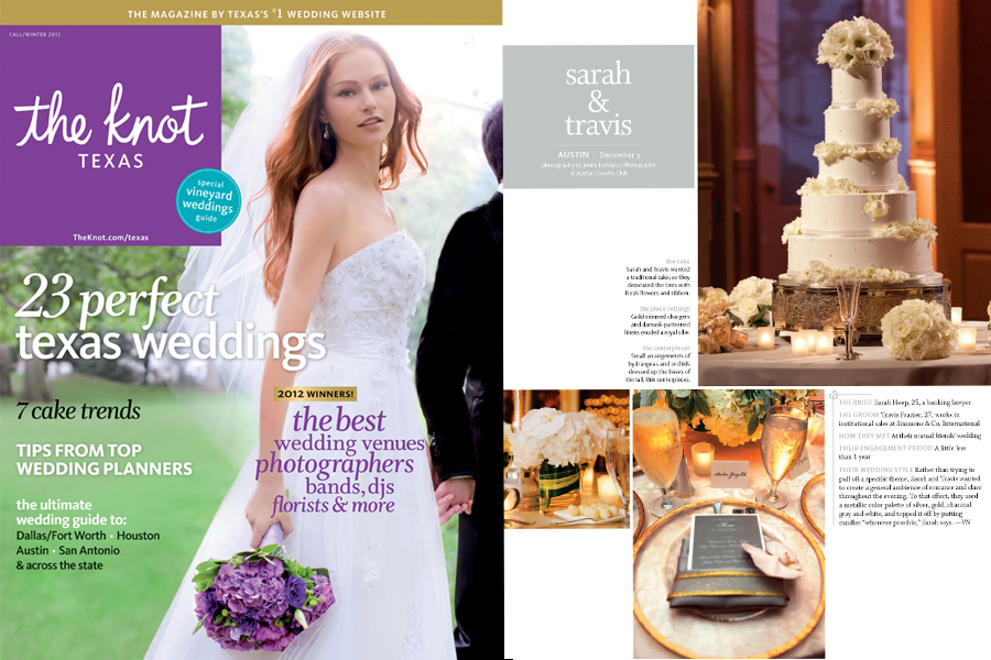 Austin Country Club wedding published in the Knot Magazine