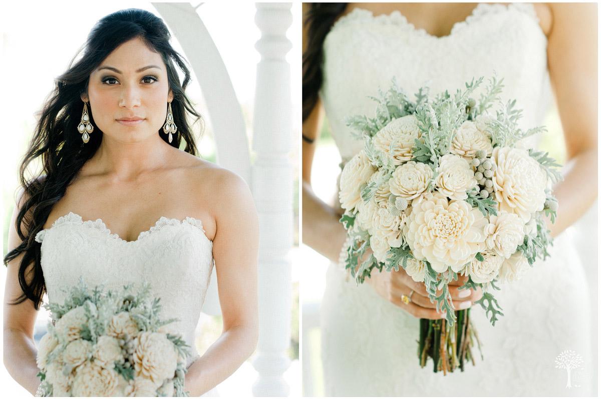 Balsa wood brides bouquet