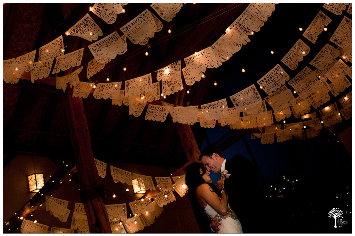 Frist dance at the Artisan Ballroom with Papel picado