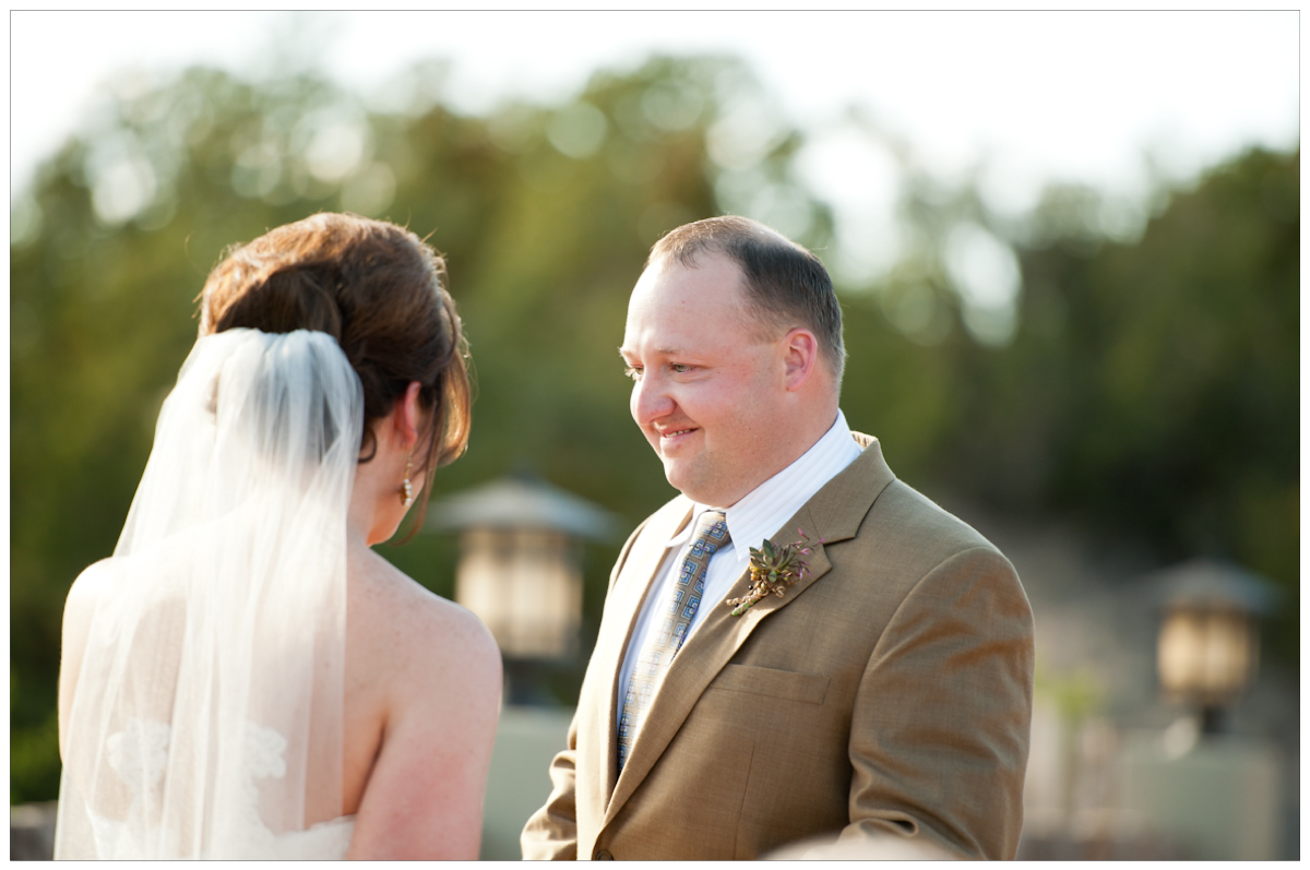groom in brown linen suit