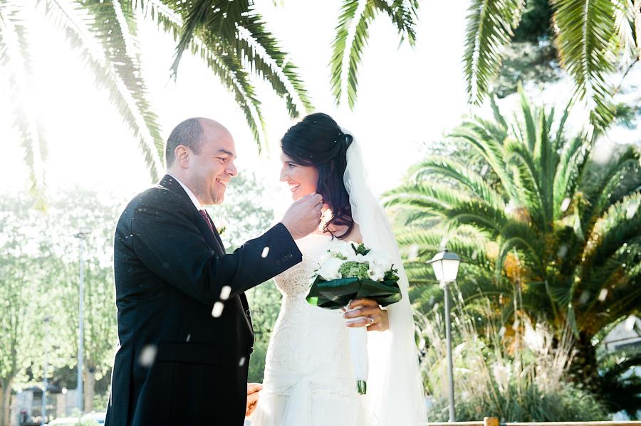 the exit rice thrown tropical garden wedding