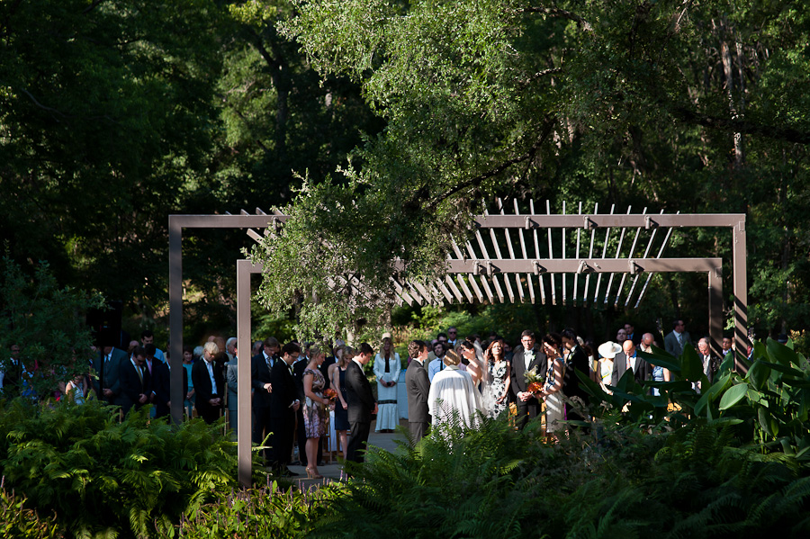 wedding under the pavilion at the gardens