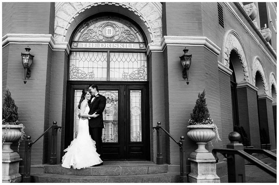classic black and white wedding celebrity luxury in downtown austin