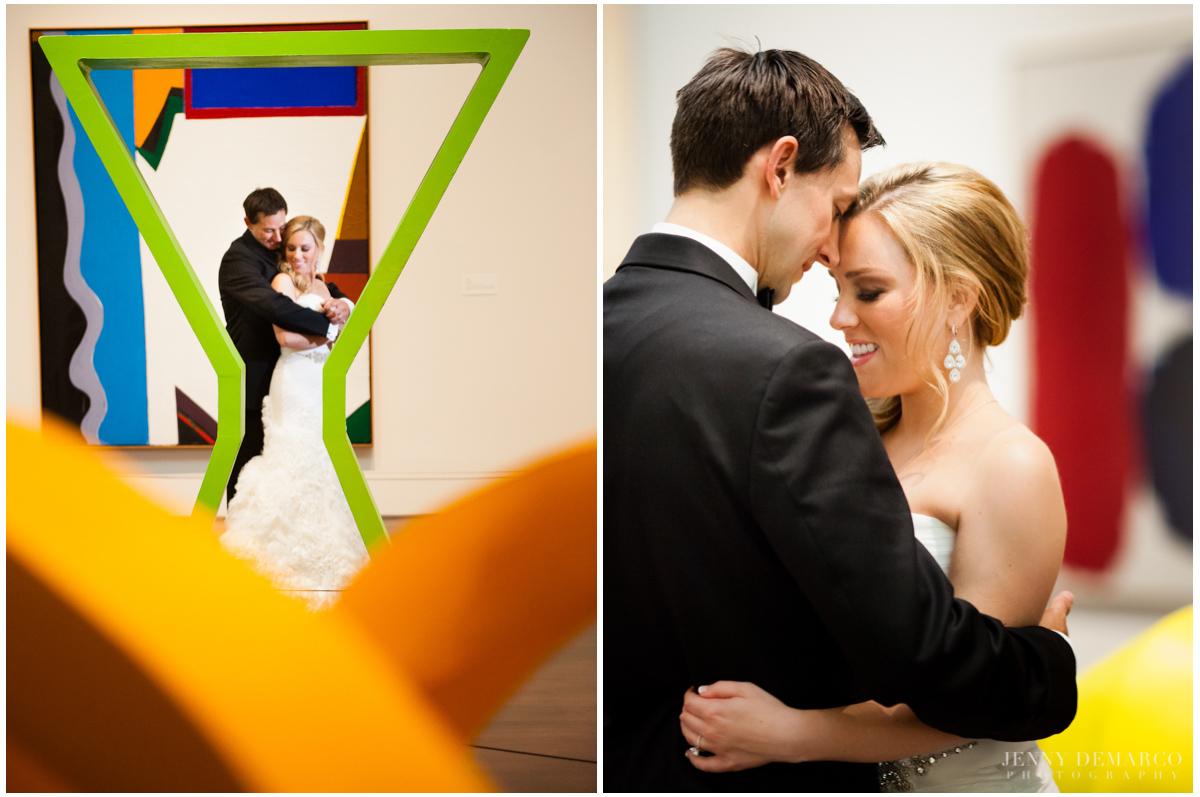 Modern art measum wedding