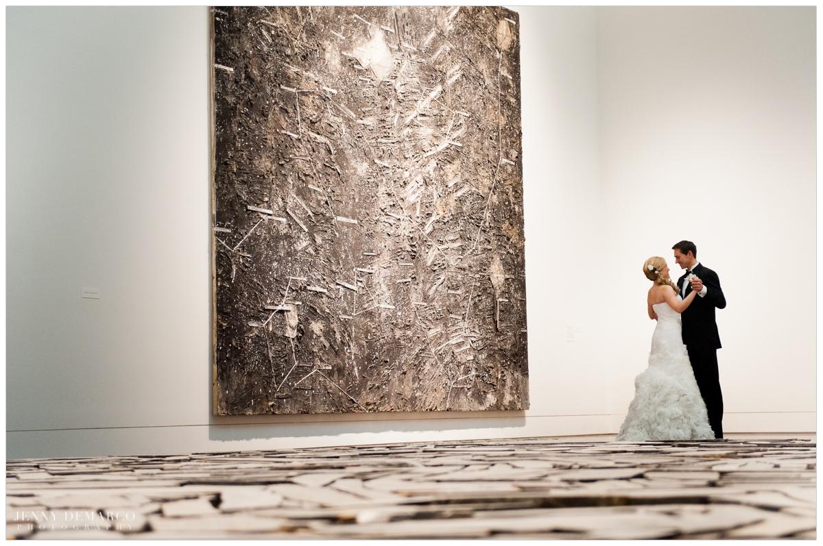 dancing at the art museum