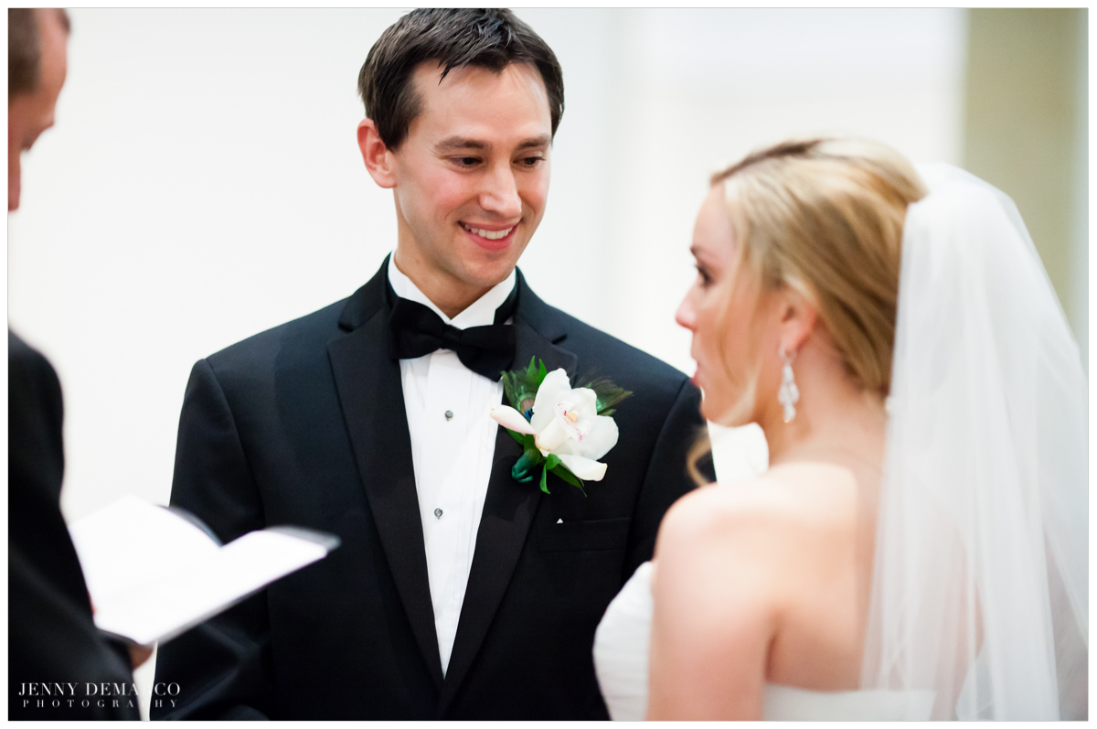 Groom looks so happy, black tie weddings
