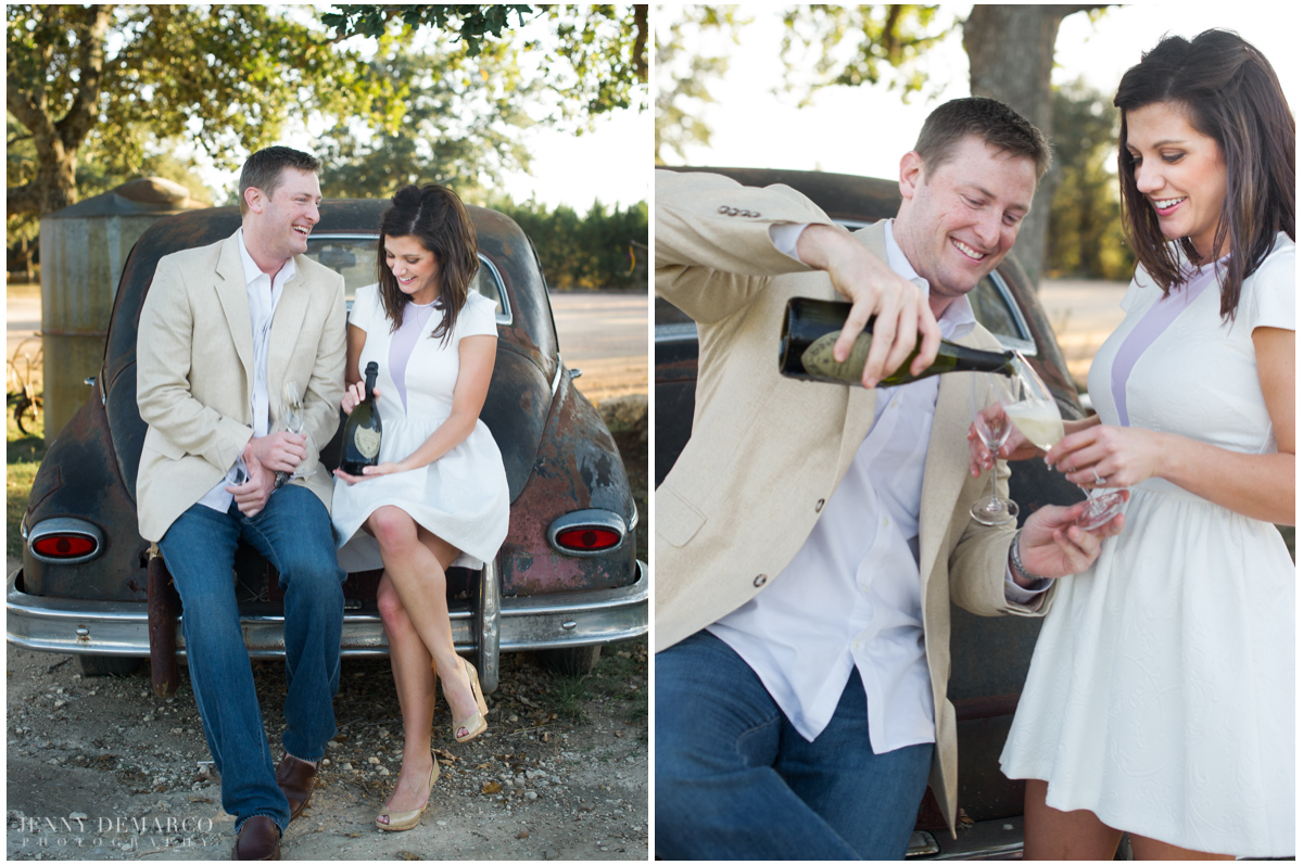 champagne toast picnic vista west wedding