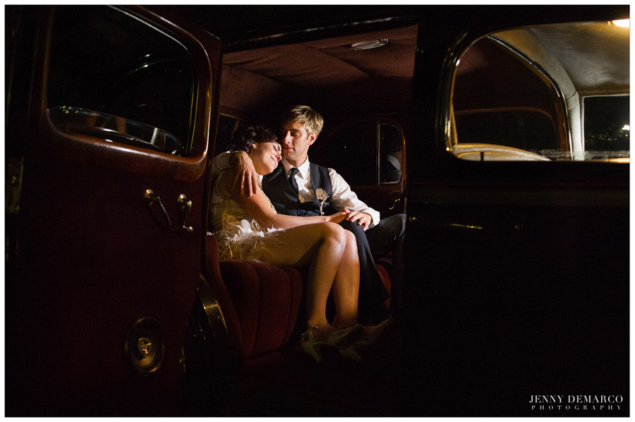 late night cuddle insdie the vintage get away car