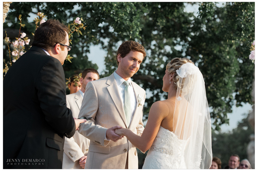 """Bride says """"I do"""" in front of the Great Hall."""