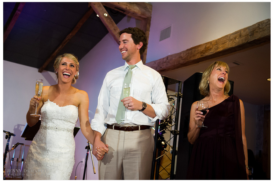 Joyful reception took place near the French Colonial Chapel.