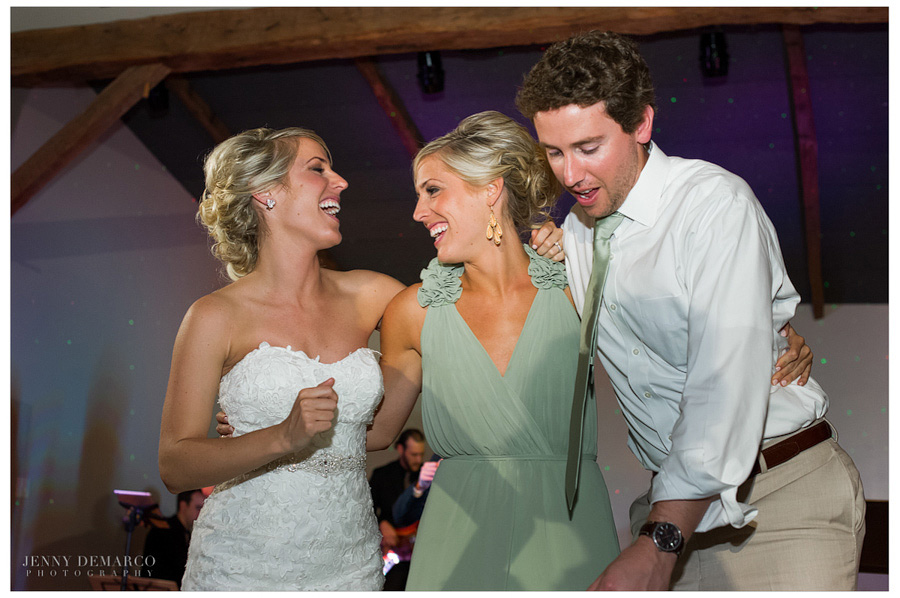 Laughs filled the Events Hall at lovely Camp Lucy wedding.