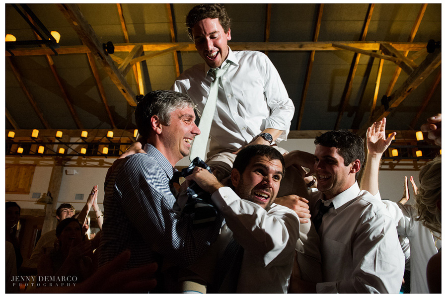 One of Austin's wedding photographers captures fun-filled reception at Dripping Springs wedding.