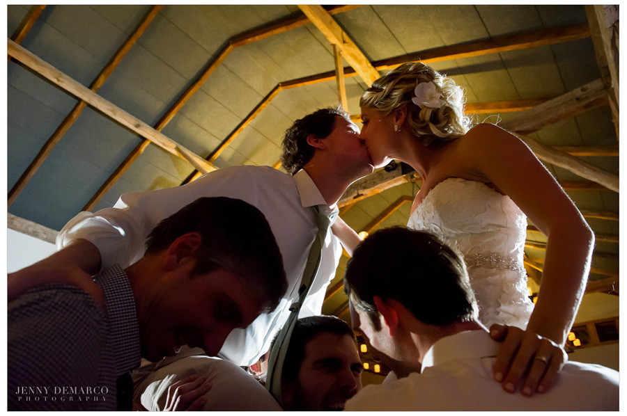 One of Dripping Spring's wedding photographers captures beautiful reception at Hill Country wedding.