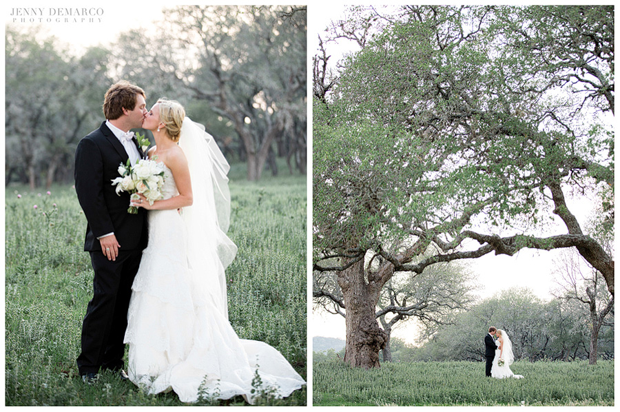 They were married in the beautiful Texas Hill Country.