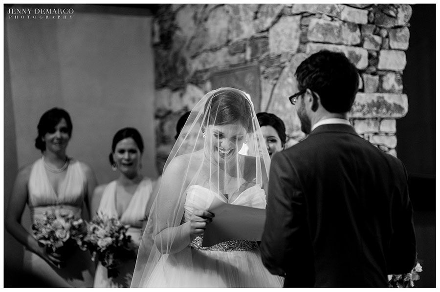 The bride and groom were married in the old world elegance of Camp Lucy in Dripping Springs, Texas.