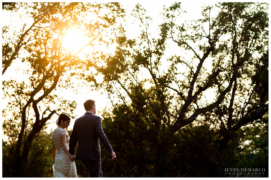 The bride and groom had a beautiful wedding at Vista West Ranch.