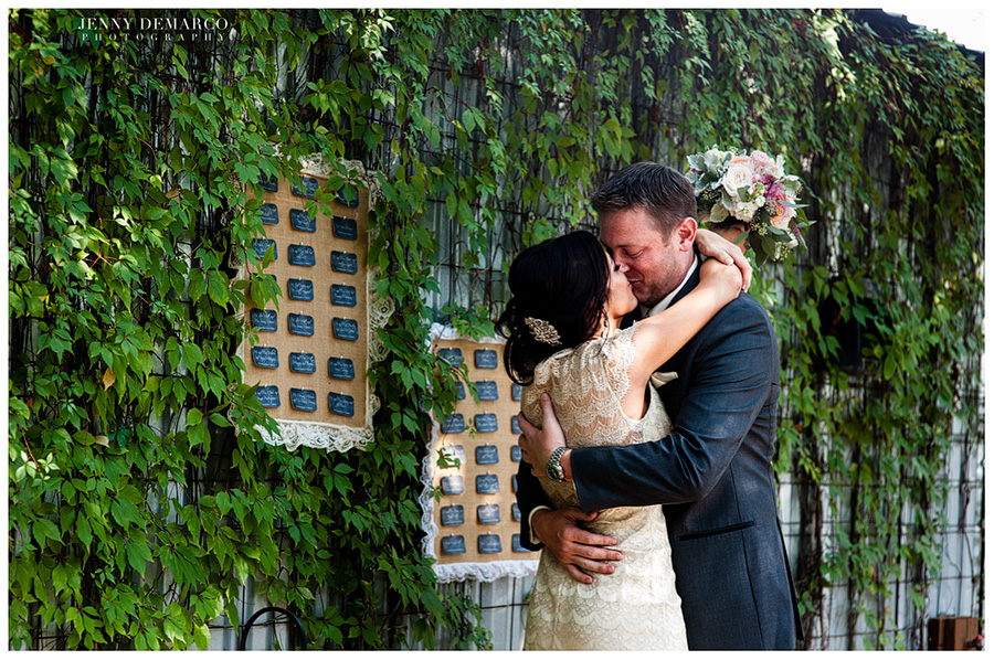"""The bride and groom had a lovely Central Texas wedding with Austin chic and """"Hill Country charm."""""""