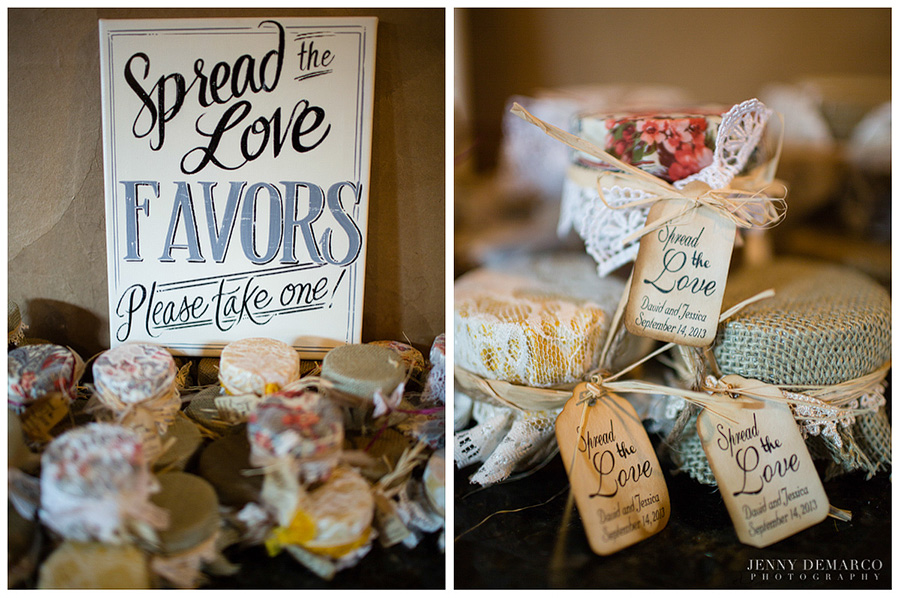 Many of the reception decorations were handmade and Pinterest-inspired.