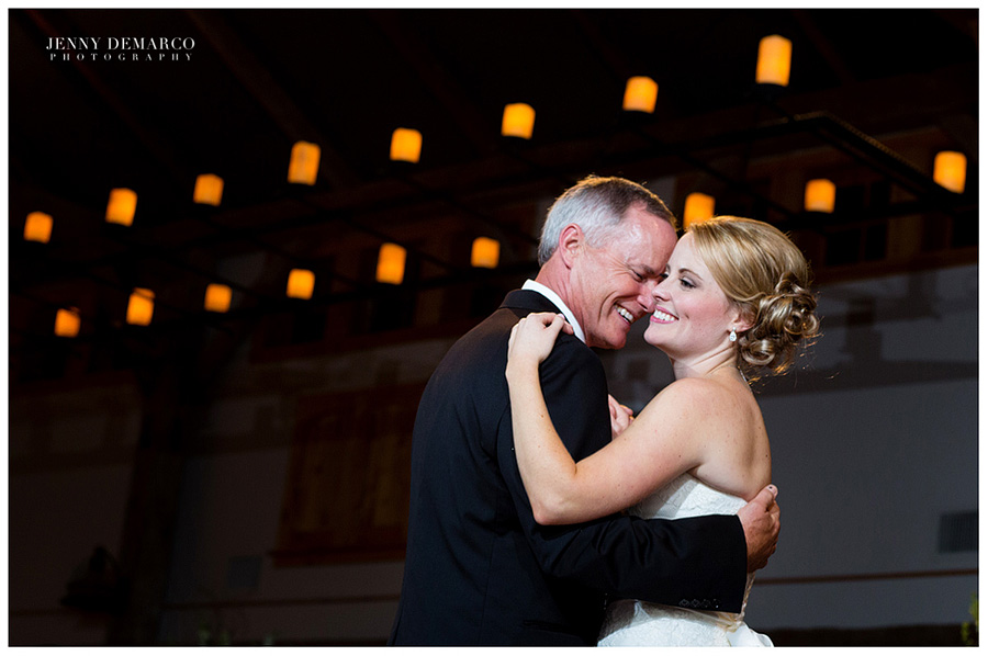 "The father daughter dance to ""You Are so Beautiful."" The father of the bride sang this song to his daughter when she was growing up."