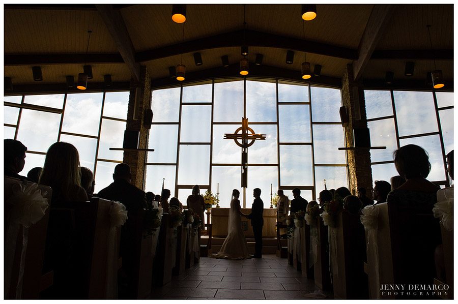 The Austinite couple were married in a beautiful wedding ceremony in Austin on St. Luke's on the Lake.