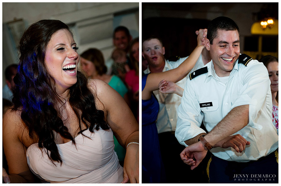 Guests at the wedding reception had a lot of fun dancing the night away.