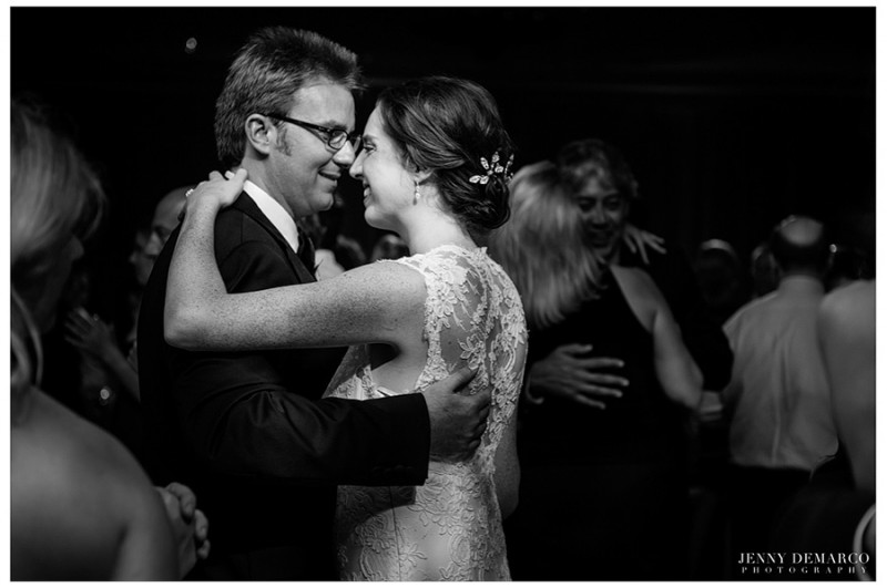 """The bride and groom danced to their favorite song, """"September"""" by Earth, Wind and Fire."""